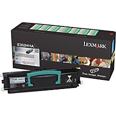 Lexmark E352H11A Black Toner Cartridge
