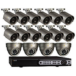 Q-See™ 32-Channel Surveillance System With 16 Indoor/Outdoor Cameras