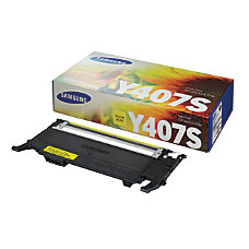 Samsung CLT Y407S Yellow Toner Cartridge