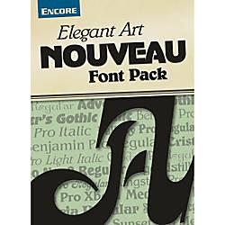 Font Collection Elegant Art Nouveau Mac