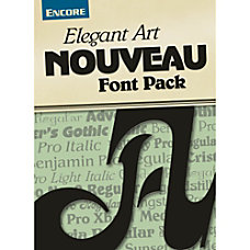 Font Collection Elegant Art Nouveau Mac