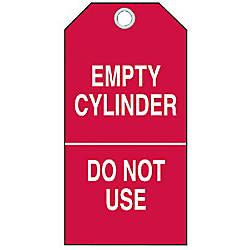 Brady Cylinder Status Tags Empty Cylinder