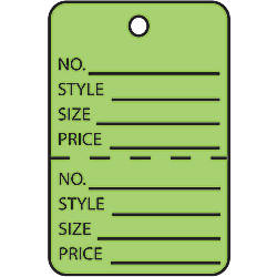 Office Depot Brand Garment Tags Perforated
