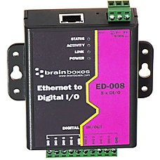 Brainboxes Ethernet to 8 Digital IO