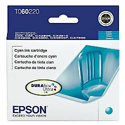 Epson® 60, (T060220-S) DuraBrite® Ultra Cyan Ink Cartridge