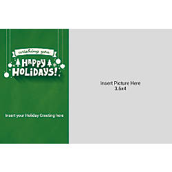 Photo Greeting Card Horizontal Happy Holidays