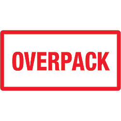 Tape Logic Preprinted Labels Overpack Rectangle