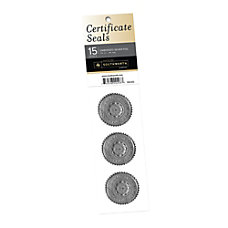 Southworth AwardCertificate Seals Silver Pack Of