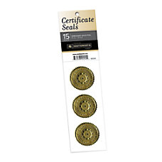 Southworth AwardCertificate Seals Gold Pack Of