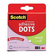 Scotch Permanent Adhesive Dots Small Craft
