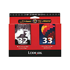 Lexmark 3233 18C0532 BlackColor Ink Cartridges