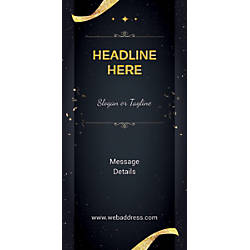 Custom Vertical Banner Gold Ribbons And