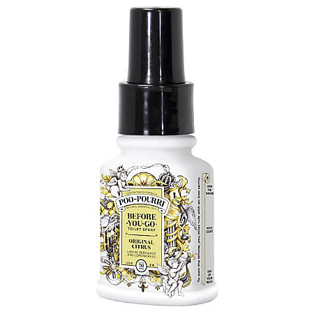 Poo Pourri Before You Go Toilet Spray Original Citrus 1 4 Oz By Office Depot Officemax