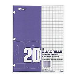 Mead Paper Filler Quad Ruled Printed