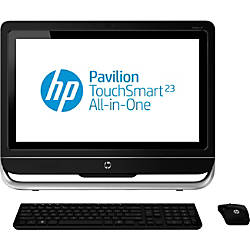 HP Pavilion TouchSmart 23-f200 23-f217c All-in-One Computer - Refurbished - AMD A-Series A8-5500 3.20 GHz - Desktop