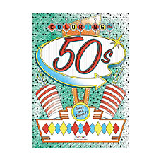 Bendon Adult Coloring Book 50s And