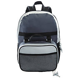 Backpack And Lunch Tote, Black/Gray