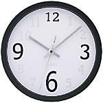 TEMPUS 10 Contemporary Wall Clock Black