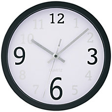 TEMPUS 10 Contemporary Wall Clock Black