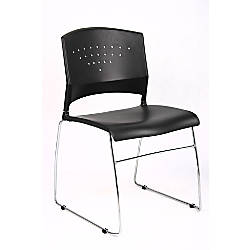 Boss Stackable Poly And Chrome Chair