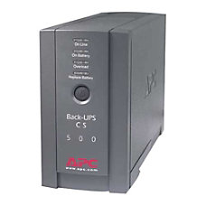 APC Back UPS CS 500VA Tower