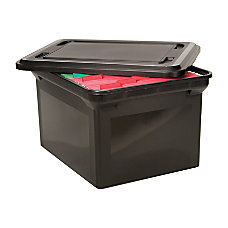 Advantus File Tote With Lid LetterLegal