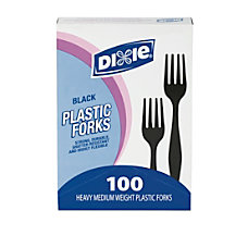 Dixie MediumHeavyweight Utensils Forks Black Box