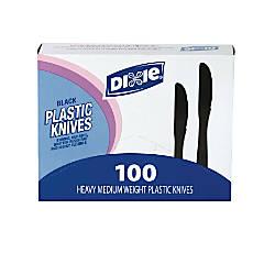Dixie Medium Weight Utensils Knives Black