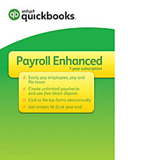 QuickBooks Payroll Enhanced 2017 Download Version