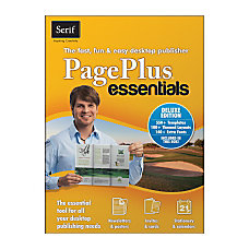 Serif PagePlus Essentials Deluxe Download Version
