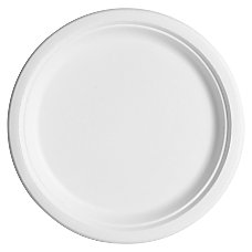 Eco Products Sugarcane Plates 10 White