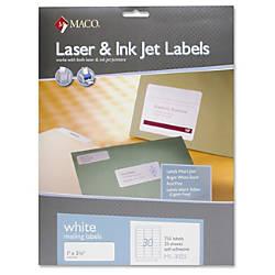MACO White LaserInk Jet Address Label