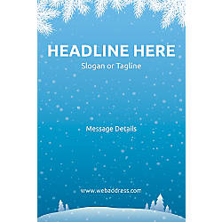 Custom Vertical Poster Winter Snowflakes