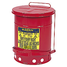 JUSTRITE Oily Waste Can 6 gal