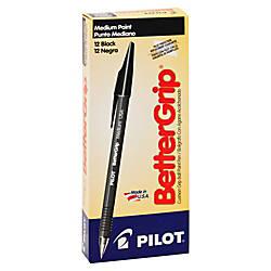 Pilot BetterGrip Ballpoint Pens Medium Point