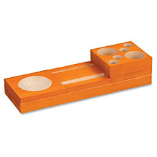 Safco Orange Splash Wood Desk Set