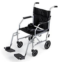Medline Basic Steel Transport Chair 19