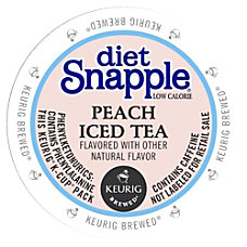 Snapple Diet Peach Iced Tea Peach