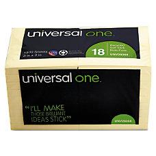 Universal Sticky Notes 3 x 3