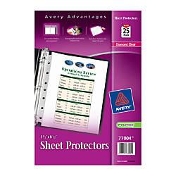 Avery Diamond Clear Heavyweight Sheet Protectors