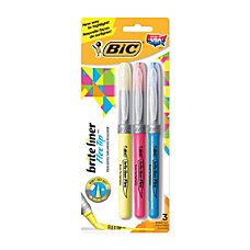 BIC Brite Liner Flex Tip Highlighters