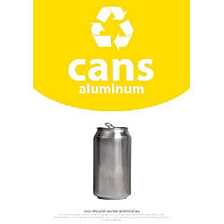 Recycle Across America Aluminum Cans Standardized