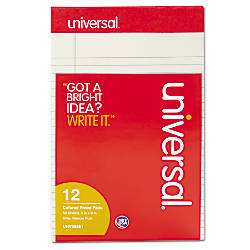 Universal Color Perforated Notepads 5 x