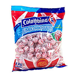 Colombina Jumbo Mint Balls Peppermint Approximately