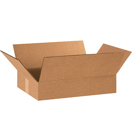Office Depot Brand Corrugated Boxes Flat 3 H X 12 W X 18 D