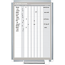 MasterVision InOut Magnetic Dry Erase Board