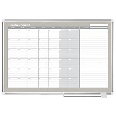 MasterVision Dry Erase Monthly Calendar Board