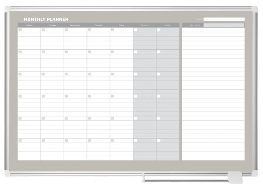 dry erase monthly calendar board 36 x 48 by office depot u0026 officemax