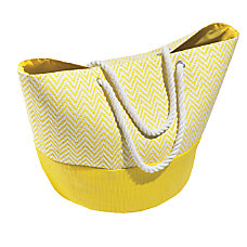 Orbit Chevron Straw Beach Tote 15