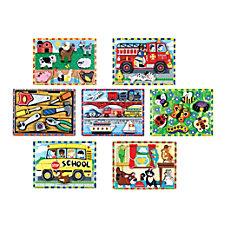 Melissa Doug Chunky Puzzle Set Set